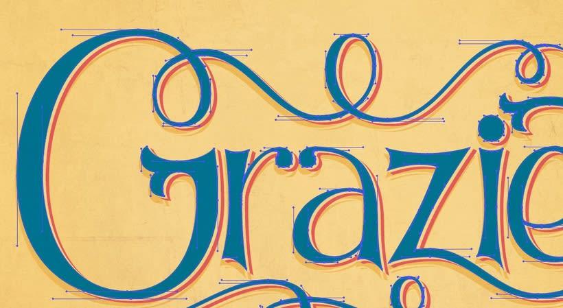 Grazie: Los secretos dorados del lettering 1