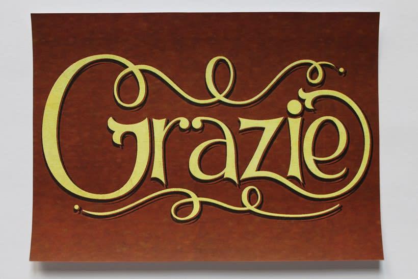 Grazie: Los secretos dorados del lettering 8