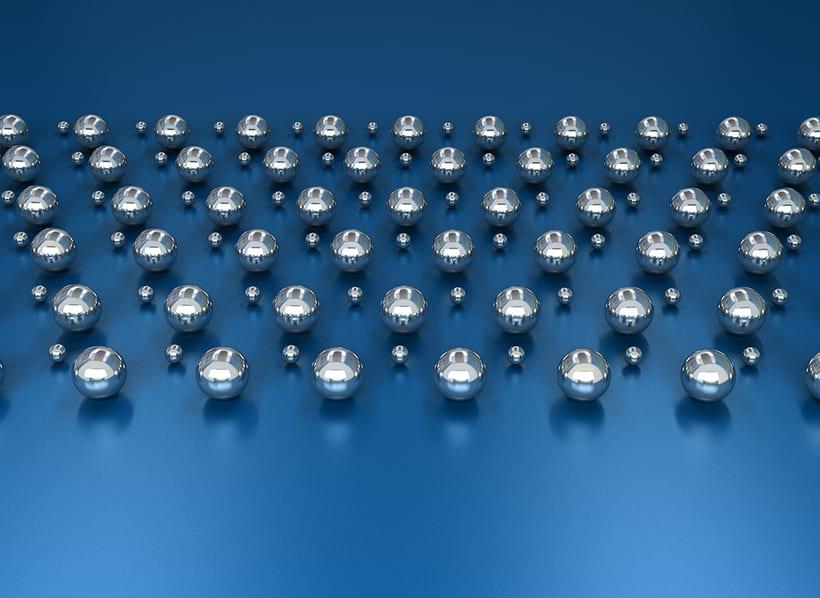 Ilustración Bolas metálicas - Autodesk 3ds Max 0