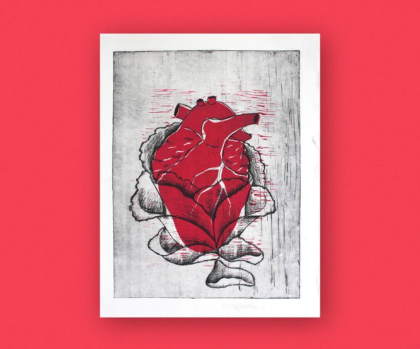 Heart engraved serie 3