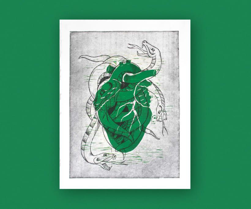 Heart engraved serie 7