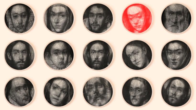 Los retratos, creados con hilo, de Petros Vrellis 1