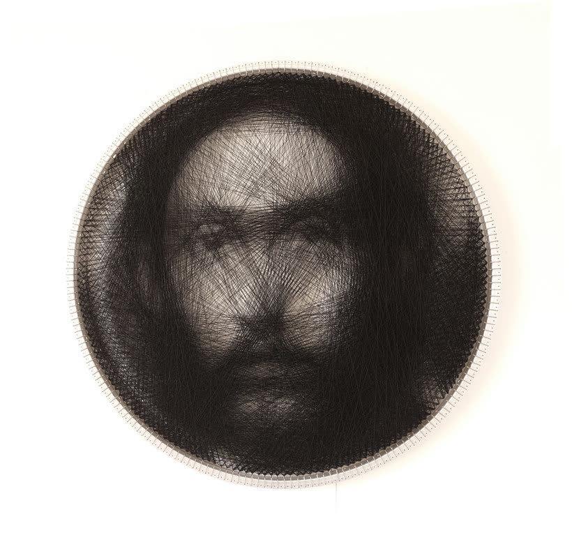 Los retratos, creados con hilo, de Petros Vrellis 2
