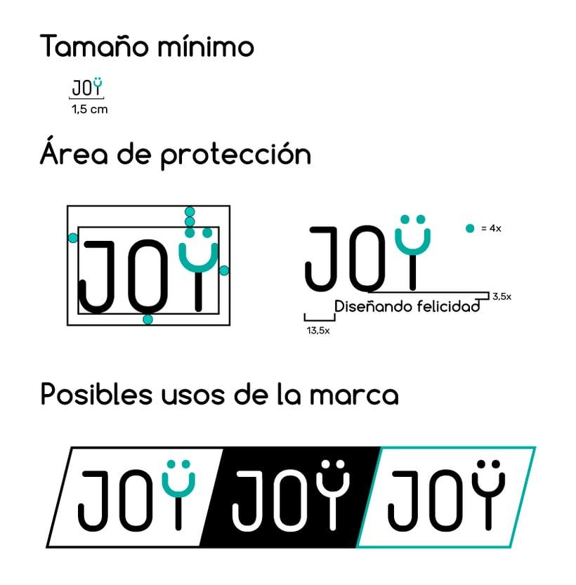 JOY (diseño de identidad corporativa para web) 2