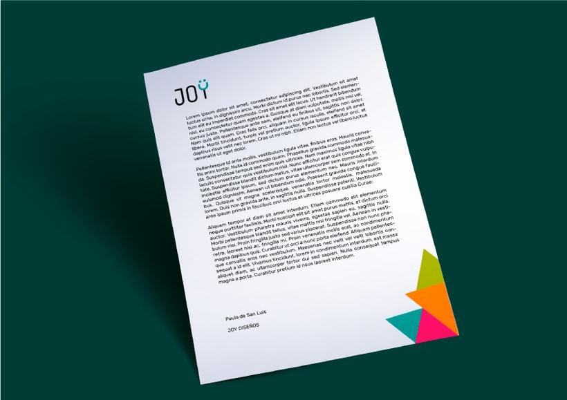 JOY (diseño de identidad corporativa para web) 6