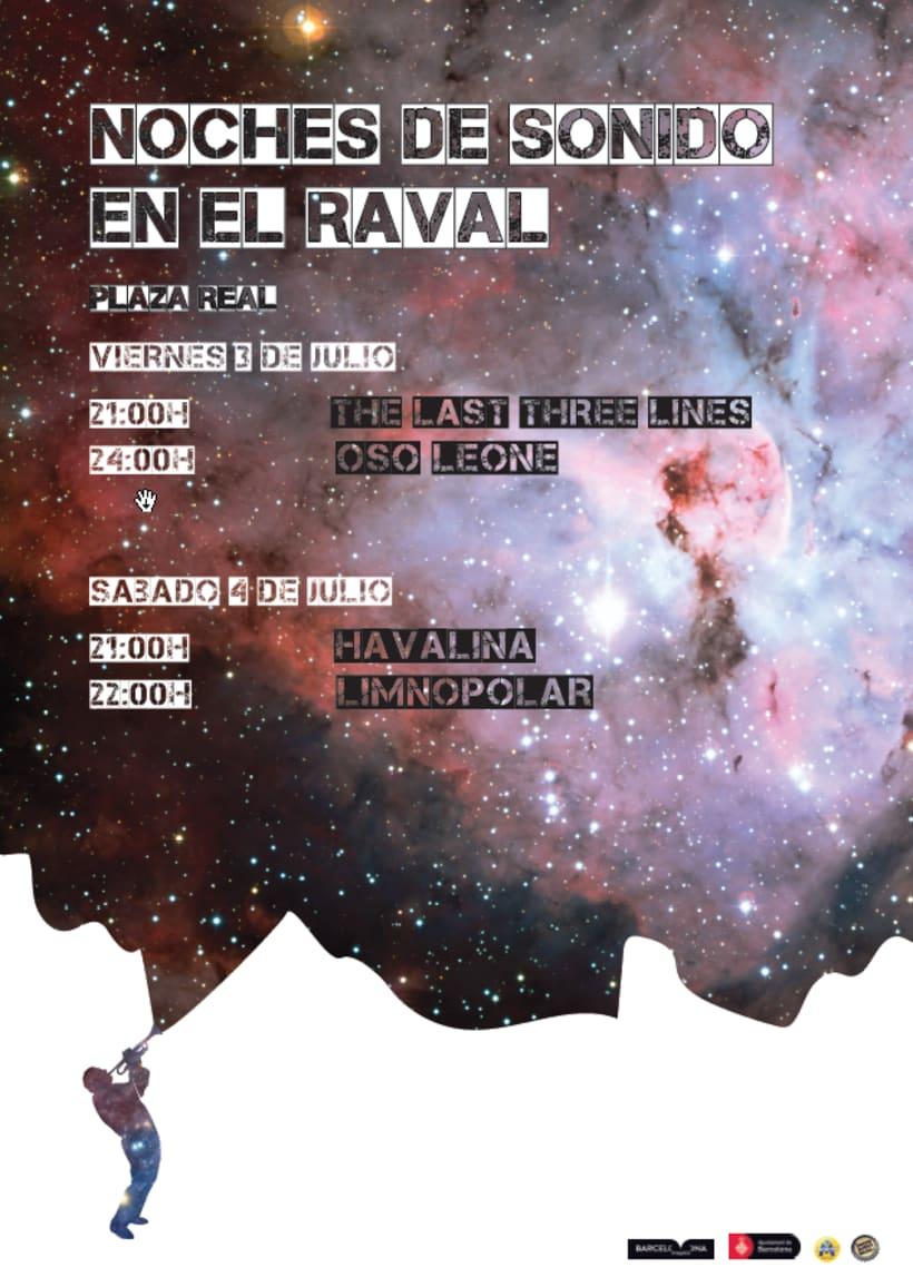 Cartel Festival música y tríptico seis pliegues 0