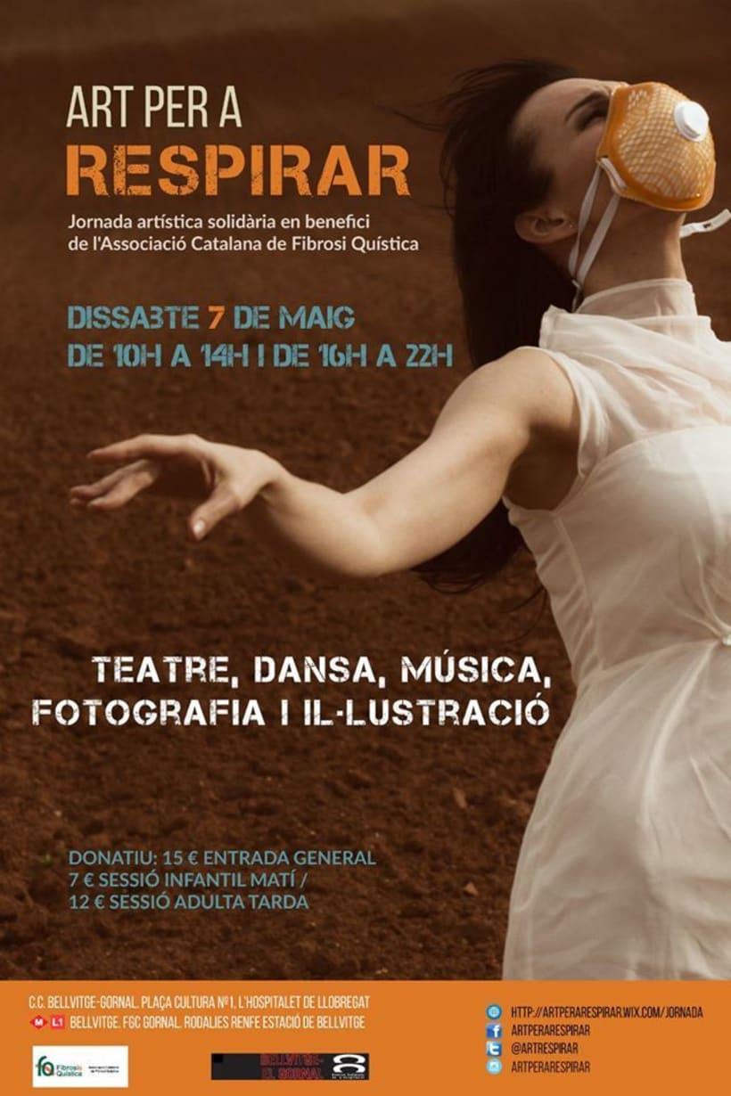 Fotografía y diseño del Cartel para el evento solidario ART PER A RESPIRAR  -1