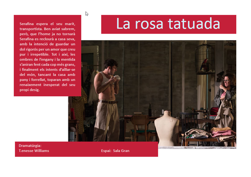 Maquetación/ Indesign/ Teatre LLiure libreto 6