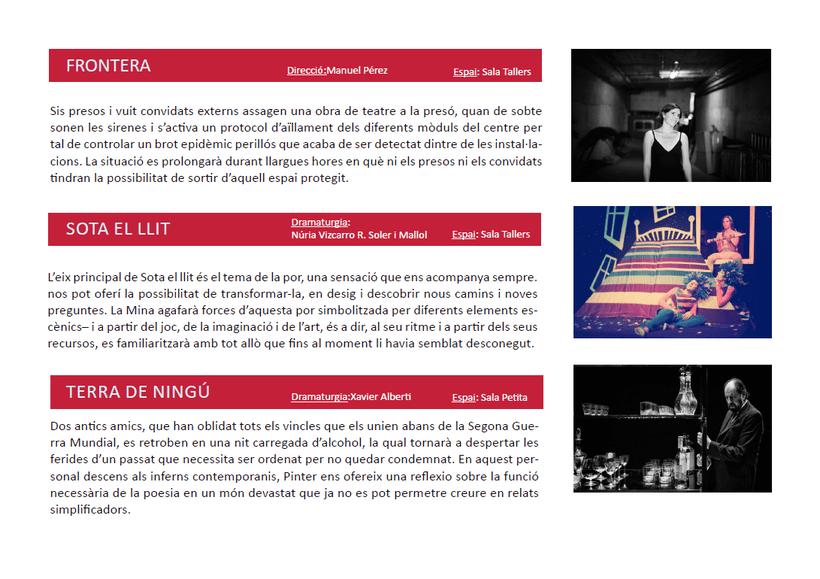 Maquetación/ Indesign/ Teatre LLiure libreto 7