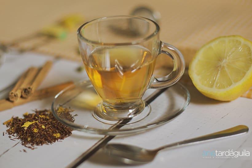 Fotografía de producto. Té de limón y canela y té de manzana y cardamomo 0