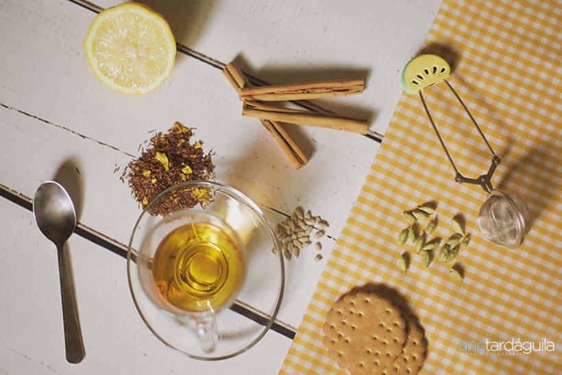 Fotografía de producto. Té de limón y canela y té de manzana y cardamomo 1