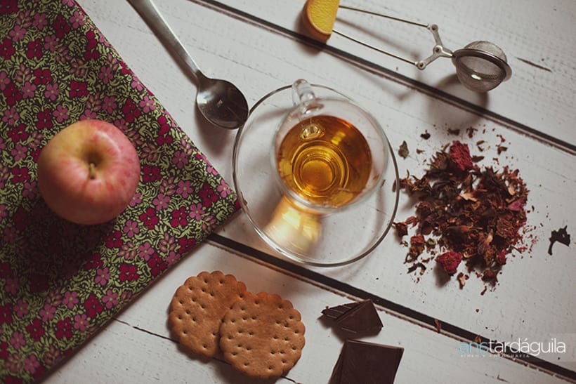 Fotografía de producto. Té de limón y canela y té de manzana y cardamomo 2