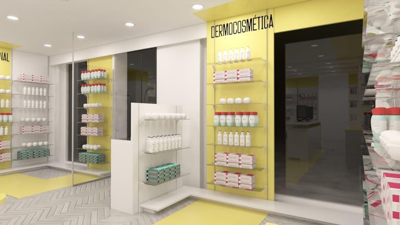 Proyecto de renovación de farmacia en Madrid 1