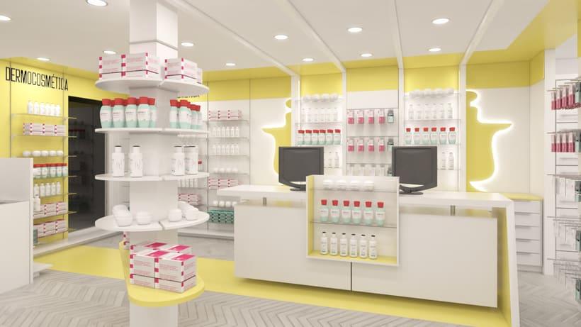 Proyecto de renovación de farmacia en Madrid 0