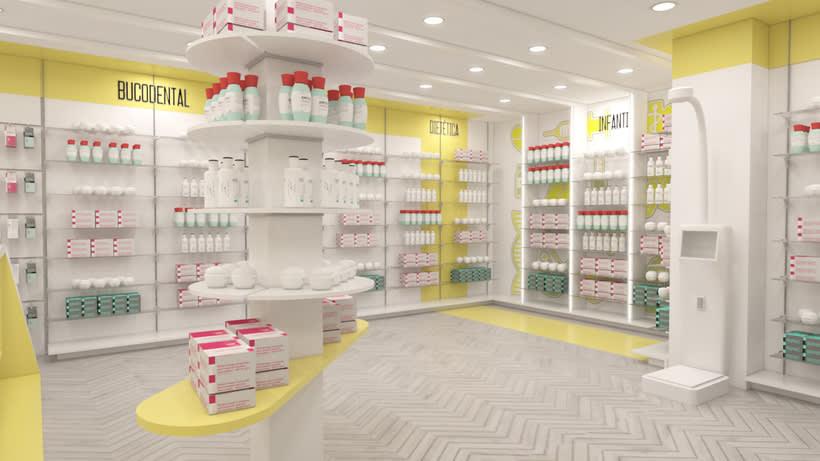 Proyecto de renovación de farmacia en Madrid 3