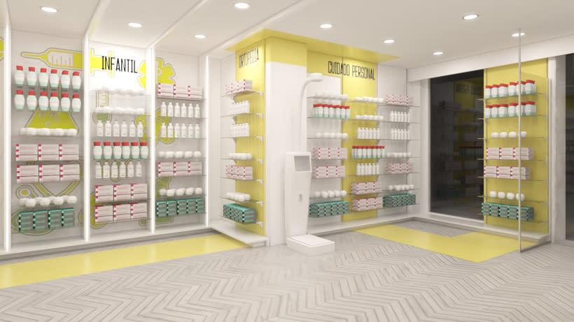 Proyecto de renovación de farmacia en Madrid 4