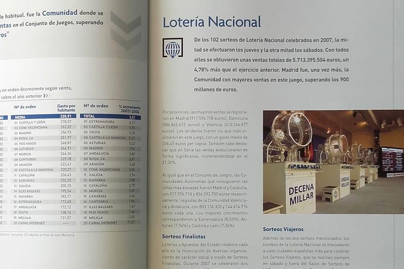 LOTERIAS Y APUESTAS DEL ESTADO. MEMORIA ANUAL. 0