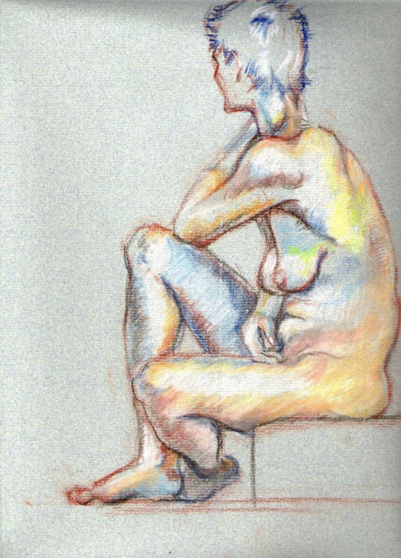 Dibujo a pastel  -1