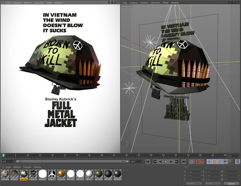 Poster FULL METAL JACKET Low Poly 1