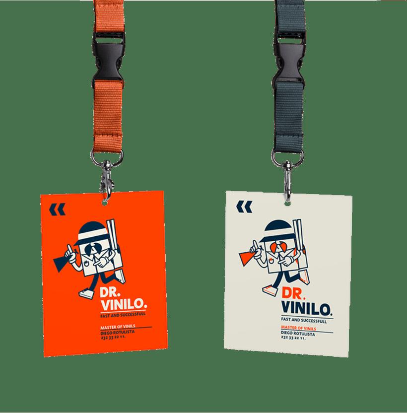 Diseño de logotipo Dr. Vinilo 4