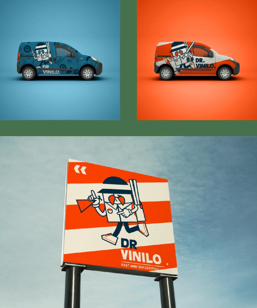 Diseño de logotipo Dr. Vinilo 5