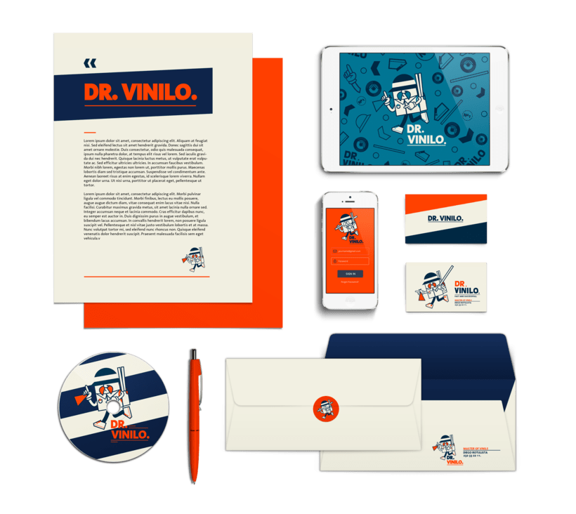 Diseño de logotipo Dr. Vinilo 2