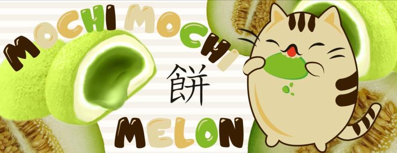 "Banner ""Mochi Melon"" -1"