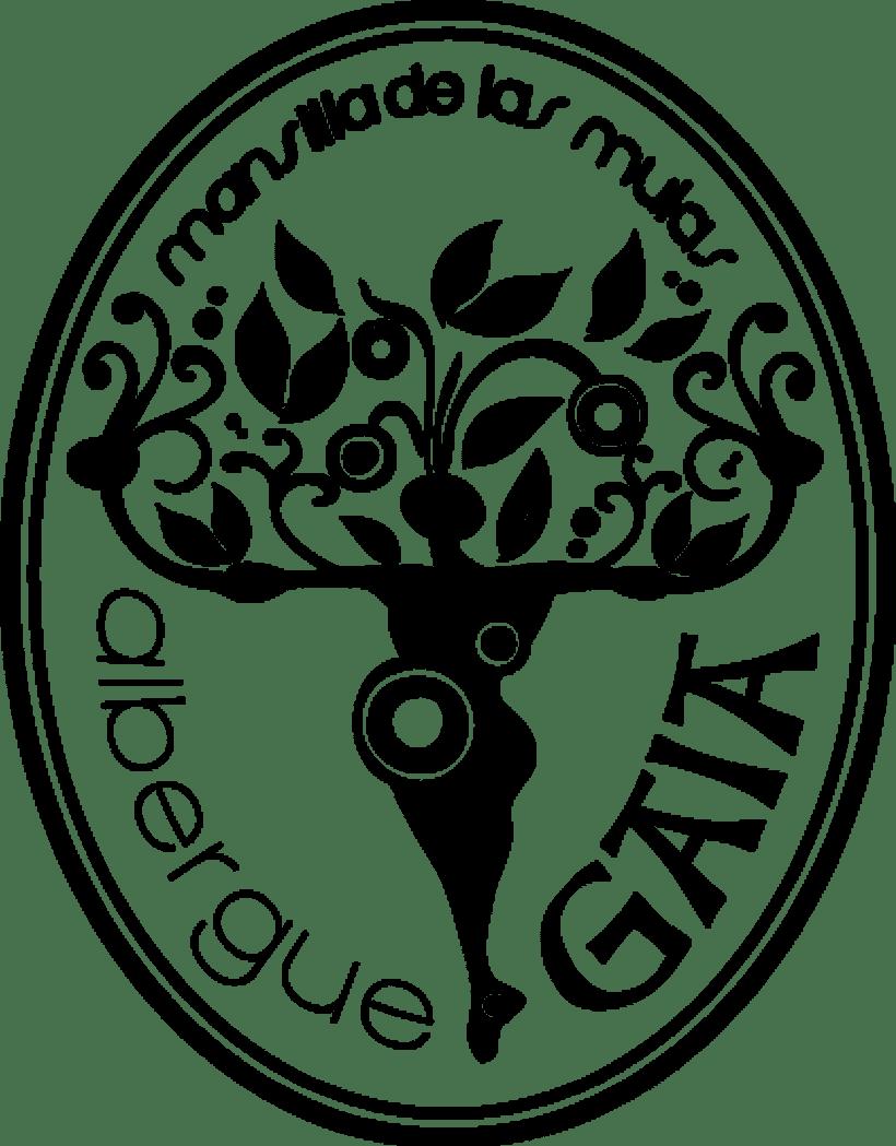 Logotipo Albergue Gaia (montado para sello de caucho) -1