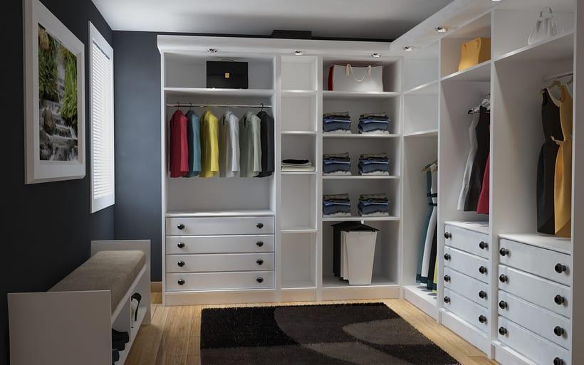 vestidor lacado en blanco  -1