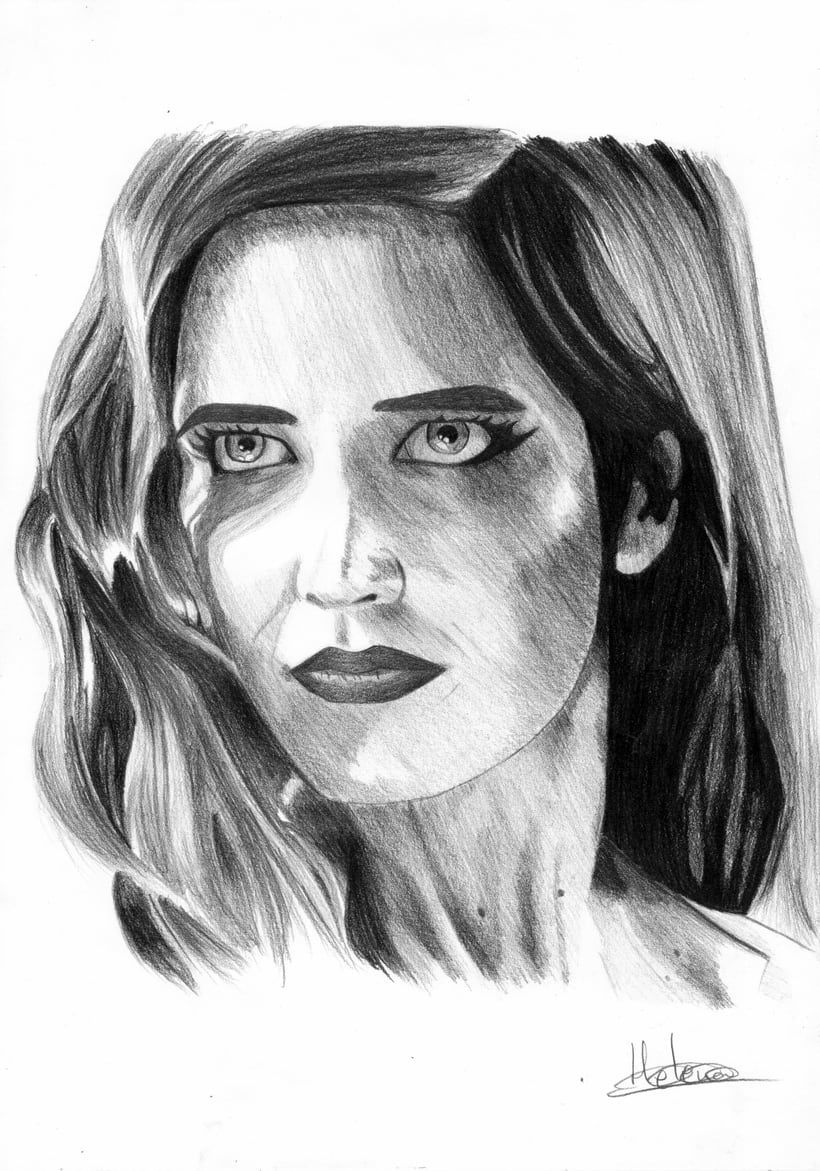 Retrato Eva Green como Ava Lord (Sin City 2) -1