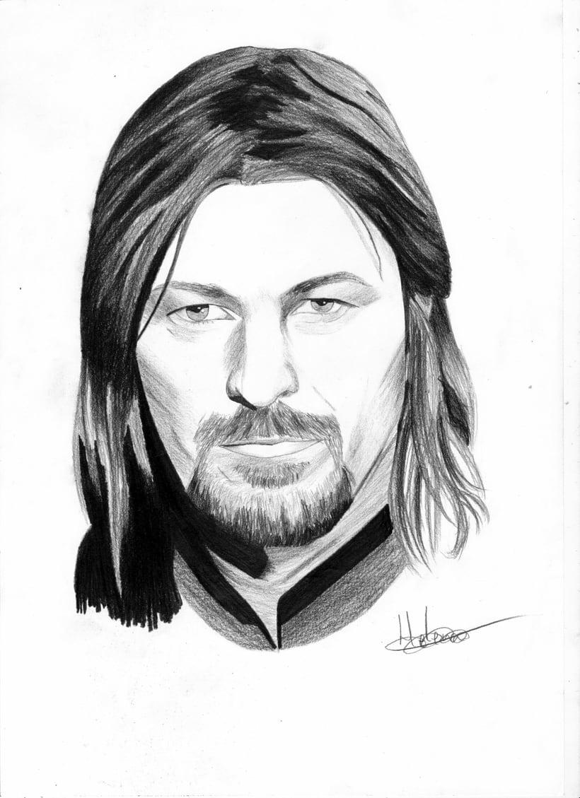 Retrato Sean Bean como Boromir (El señor de los anillos) -1