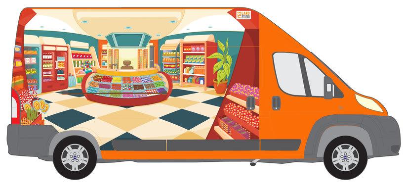 Aperitivos Snack - Ilustración flota furgonetas 5
