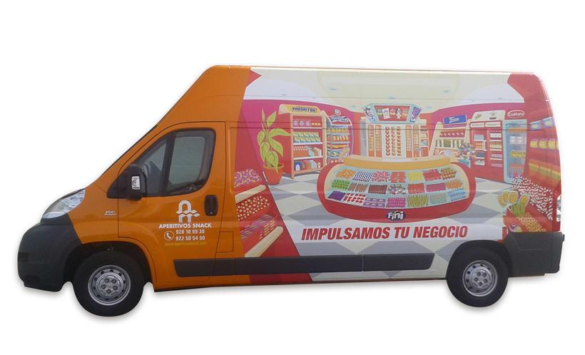 Aperitivos Snack - Ilustración flota furgonetas 6