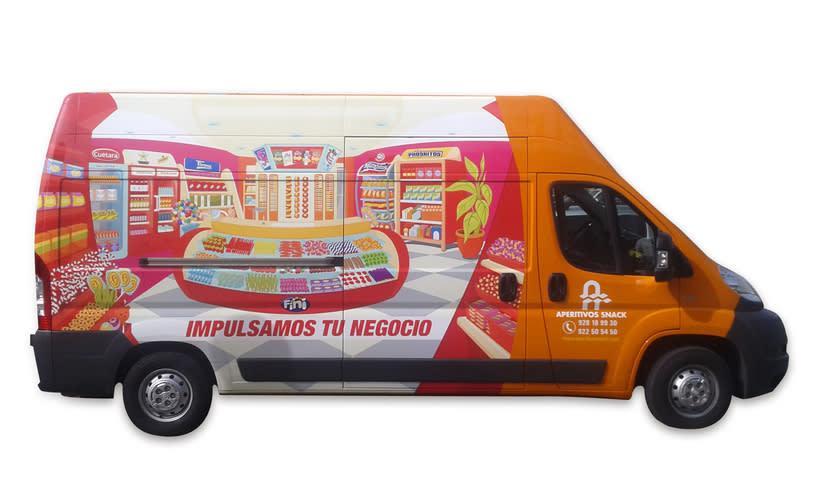 Aperitivos Snack - Ilustración flota furgonetas 7