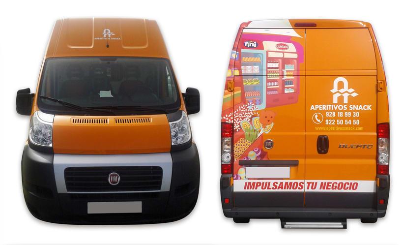 Aperitivos Snack - Ilustración flota furgonetas 8