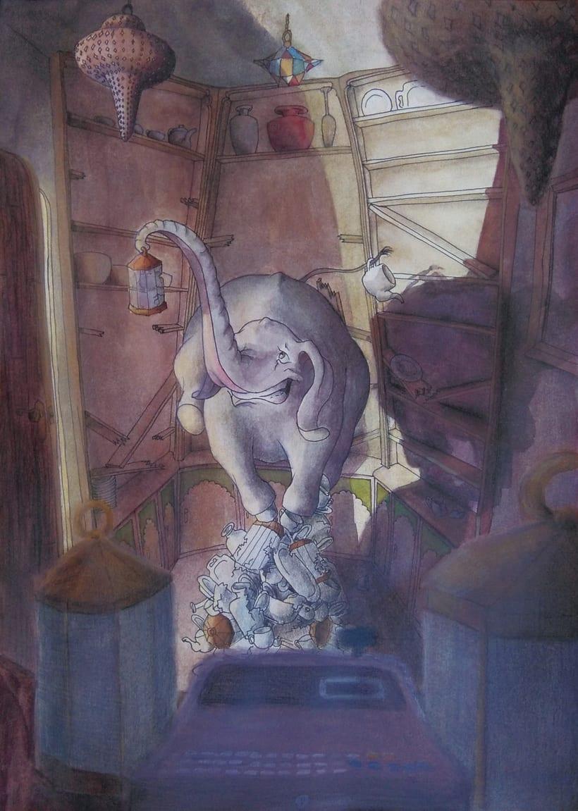 Elefante en una cacharrería -1