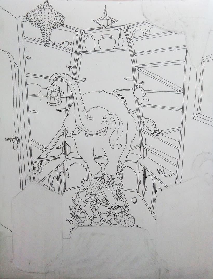 Elefante en una cacharrería 0