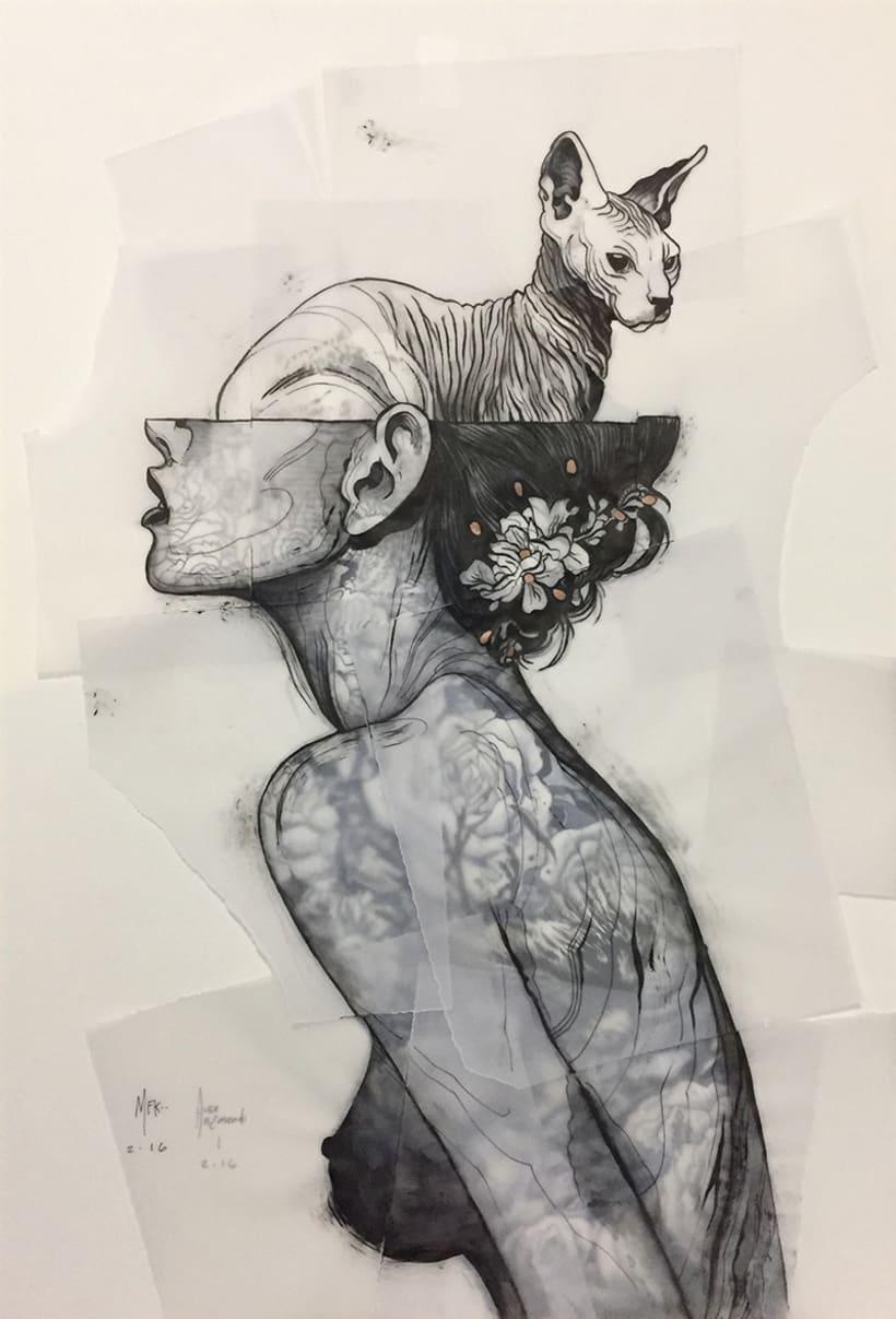 """""""Untitled"""" AUSENCIA / PRESENTE Expo Colectiva en GAMA CREA , Ciudad de México 2016 -1"""