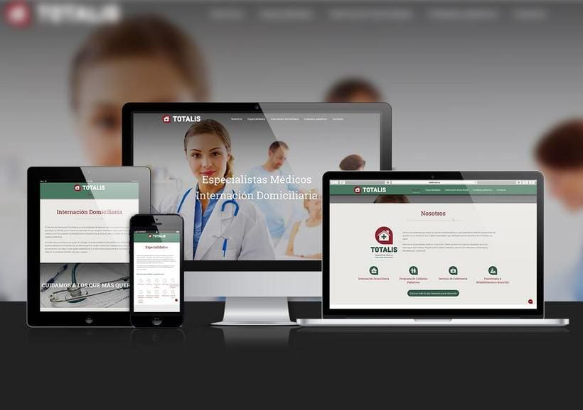 Responsive web design for a medical specialties, nursing and home care organization. -1