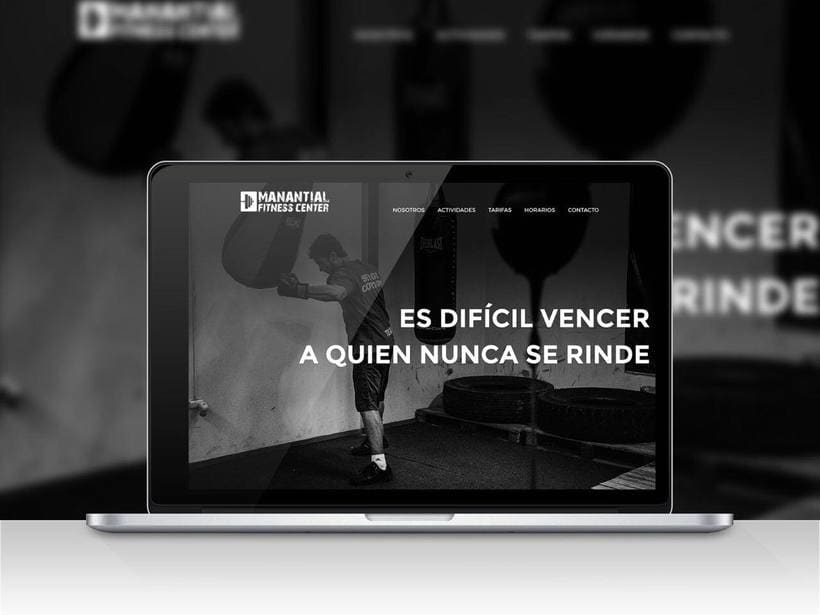Responsive web design for a well known gym, located in the center of Córdoba (Argentina). -1