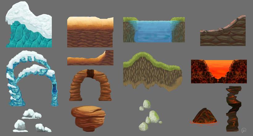 Estudio de texturas y materiales para videojuego -1