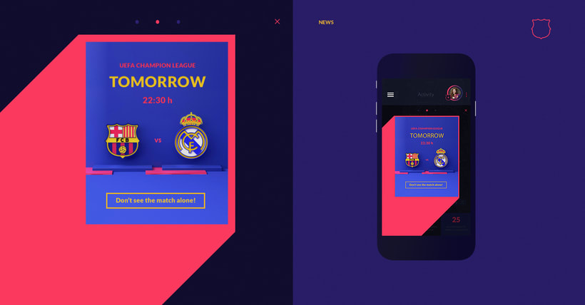 Fanapptic. The new app for fans of FC Barcelona.Nuevo proyecto 2