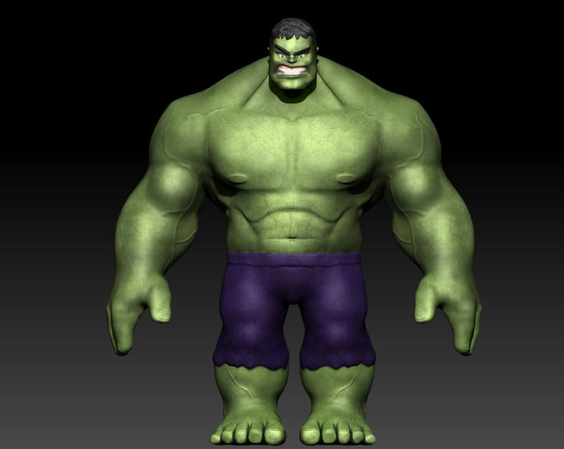 Personaje con ZBrush: Hulk 0