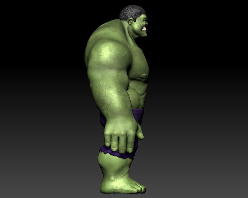 Personaje con ZBrush: Hulk 1