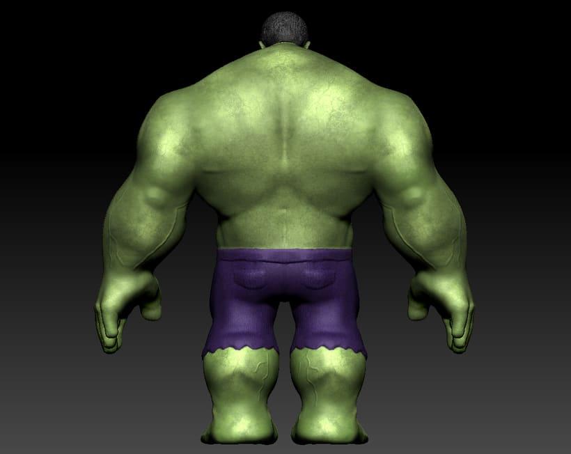 Personaje con ZBrush: Hulk 2