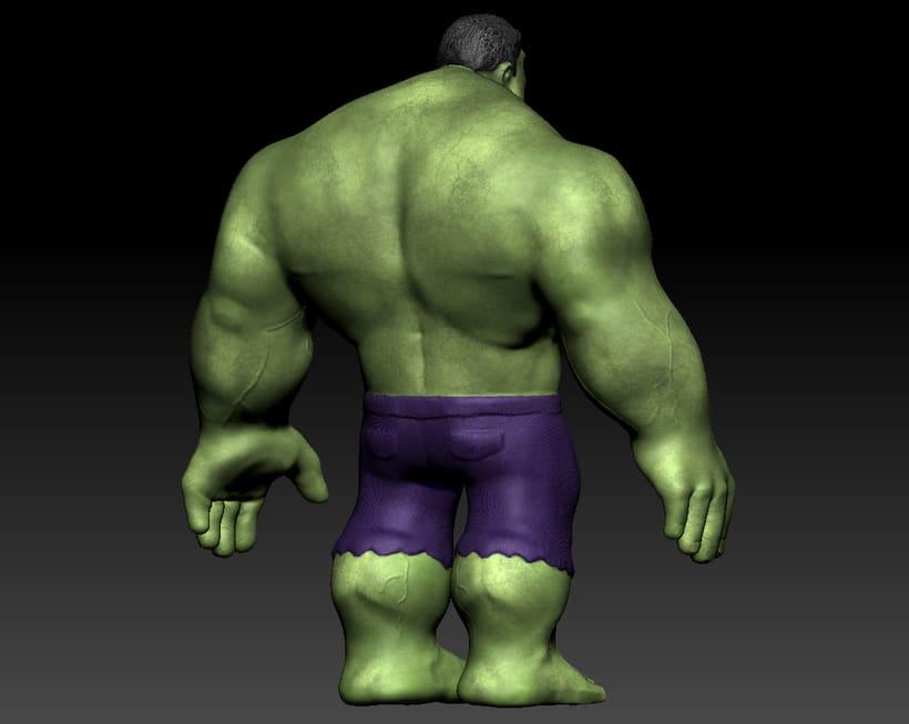 Personaje con ZBrush: Hulk 3
