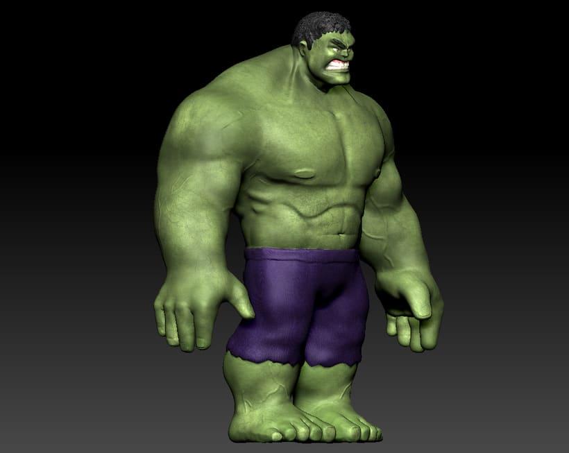 Personaje con ZBrush: Hulk 4