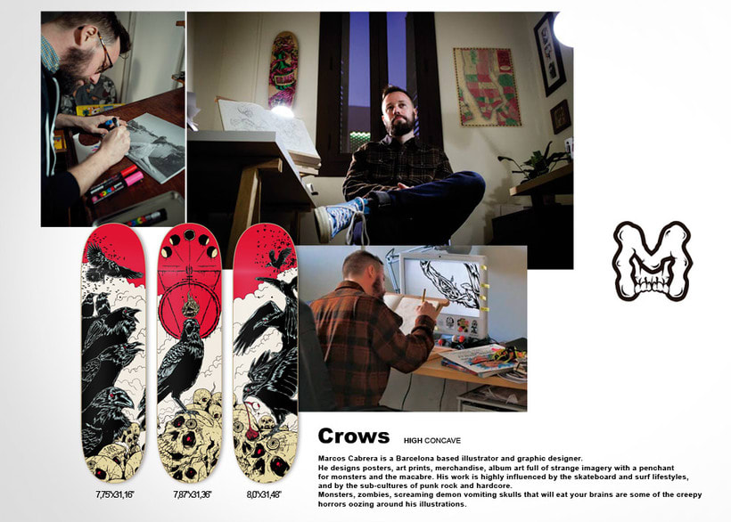 Crows - Jart Skateboards Artist SeriesNuevo proyecto 0