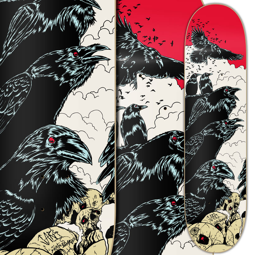 Crows - Jart Skateboards Artist SeriesNuevo proyecto 3