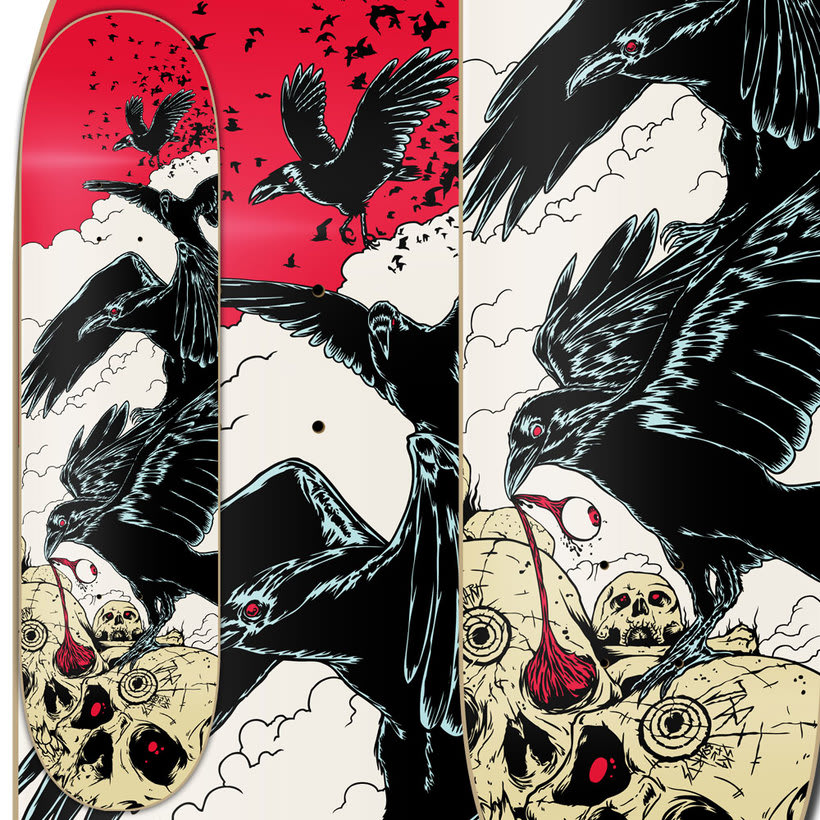 Crows - Jart Skateboards Artist SeriesNuevo proyecto 4
